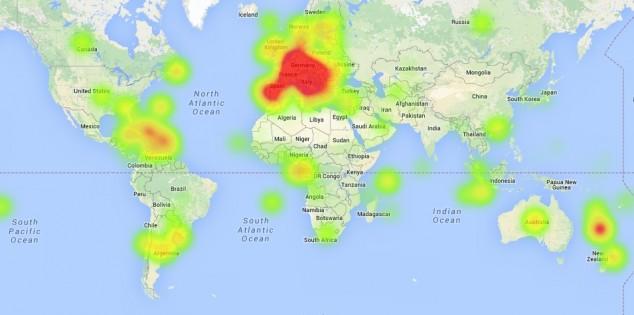 Mapa de consumo de vinho per capita