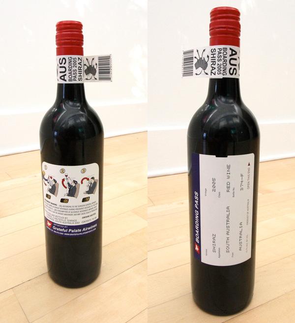 Rótulo da garrafa de vinho
